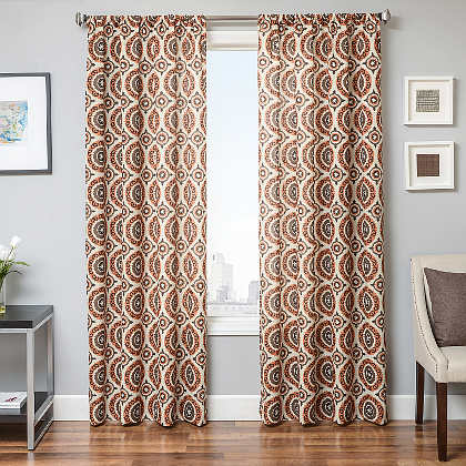 Softline Home Fashions Norwalk Drapery Panels are Lined, unlined, and interlined drapery panels in different color choices.
