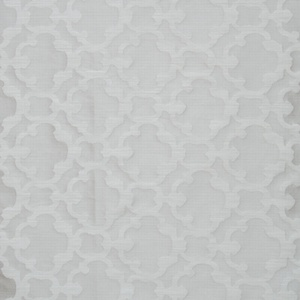 Softline Home Fashions Palmira Tile Drapery Panels Swatch in White color.