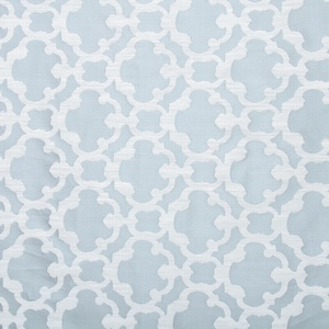 Softline Home Fashions Palmira Tile Drapery Panels Swatch in Ocean color.