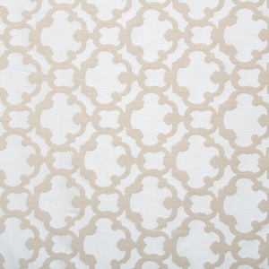 Softline Home Fashions Palmira Tile Drapery Panels Swatch in Pearl color.