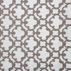 Softline Home Fashions Palmira Tile Drapery Panels Swatch in Designer Grey color.