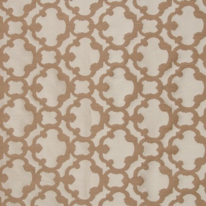 Softline Home Fashions Palmira Tile Drapery Panels Swatch in Latte color.