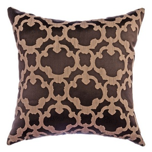 Softline Home Fashions Palmira Tile Decorative Pillow in Designer Brown color.