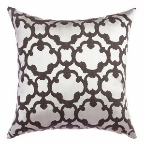 Softline Home Fashions Palmira Tile Decorative Pillow in Designer Grey color.