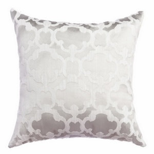 Softline Home Fashions Palmira Tile Decorative Pillow in White color.