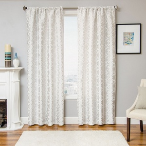 Softline Home Fashions Palmira Tile Drapery Panels in White color.