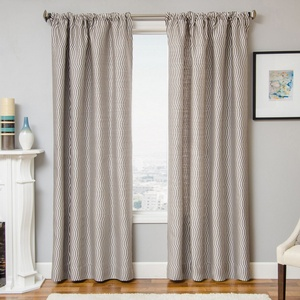 Softline Home Fashions Palmira Drapery Panels in Designer Grey color.