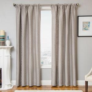 Softline Home Fashions Palmira Drapery Panels in Designer Grey color.