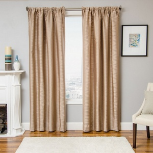 Softline Home Fashions Palmira Drapery Panels in Latte color.