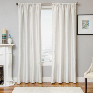Softline Home Fashions Palmira Drapery Panels in White color.