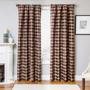 Softline Home Fashions Palmira Drapery Panels in Designer Brown color.
