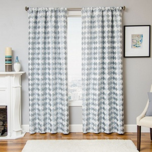 Softline Home Fashions Palmira Drapery Panels in Ocean color.