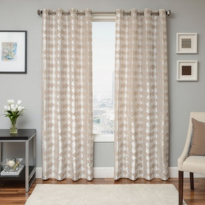 Softline Home Fashions Palmira Drapery Panels in Pearl color.