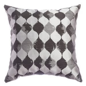 Softline Home Fashions Palmira Decorative Pillow in Pewter color.