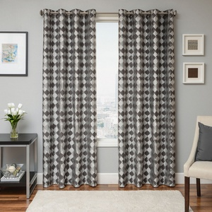 Softline Home Fashions Palmira Drapery Panels in Pewter color.