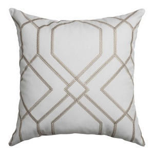 Softline Home Fashions Quail decorative pillow in Champagne color.