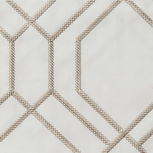Softline Home Fashions Quail Drapery Panels Swatch in Champagne color.