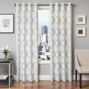 Softline Home Fashions Quail Drapery Panels in Haze color.