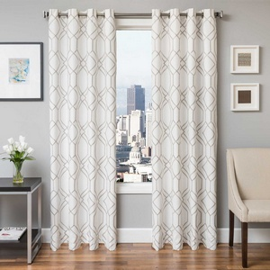 Softline Home Fashions Quail Drapery Panels in Silver color.