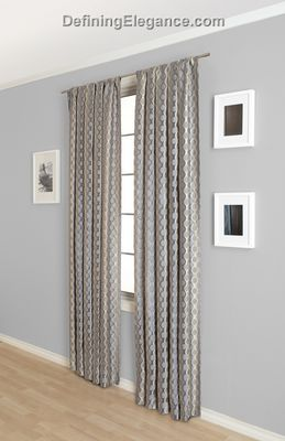 DefiningElegance.com presents lined or unlined Softline Rogue Drapery Panels and Scarf Valances.