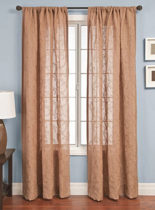 Softline Sarasata Sheer Drapery Panels is available in 5 color combinations.