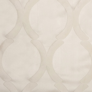 Softline Home Fashions Savannah Drapery Panels Swatch in Pearl color.