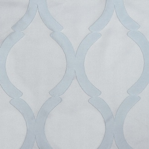 Softline Home Fashions Savannah Drapery Panels Swatch in Ice color.