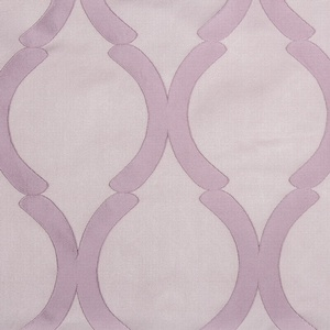 Softline Home Fashions Savannah Drapery Panels Swatch in Lilac color.