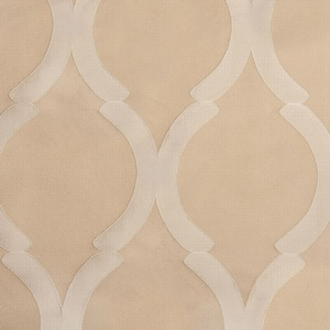 Softline Home Fashions Savannah Drapery Panels Swatch in Champagne color.