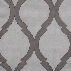 Softline Home Fashions Savannah Drapery Panels Swatch in Chrome color.