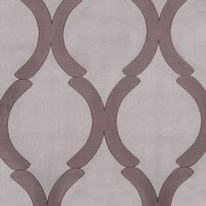 Softline Home Fashions Savannah Drapery Panels Swatch in Latte color.