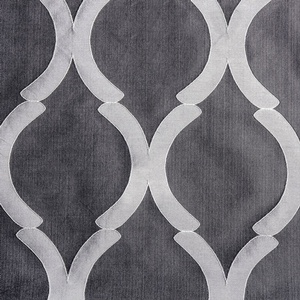 Softline Home Fashions Savannah Drapery Panels Swatch in Pewter color.