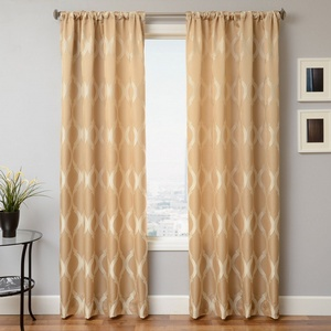 Softline Home Fashions Savannah Drapery Panels in Champagne color.