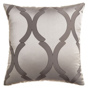 Softline Home Fashions Savannah Decorative Pillow in Chrome color.