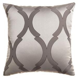 Softline Home Fashions Savannah Decorative Pillow in Chrome color.