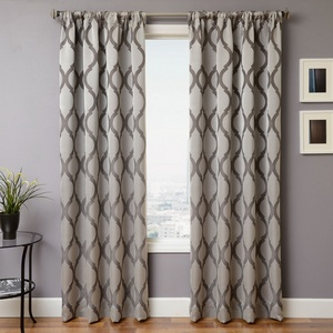 Softline Home Fashions Savannah Drapery Panels in Chrome color.
