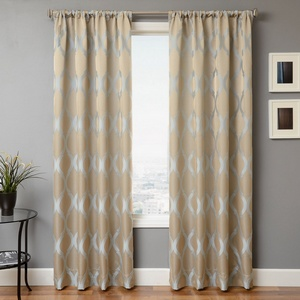 Softline Home Fashions Savannah Drapery Panels in Haze color.