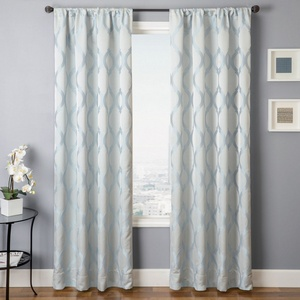 Softline Home Fashions Savannah Drapery Panels in Ice color.
