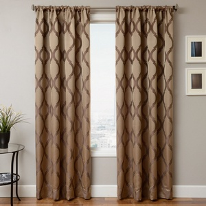Softline Home Fashions Savannah Drapery Panels in Java color.