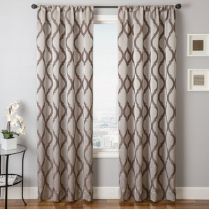 Softline Home Fashions Savannah Drapery Panels in Latte color.
