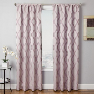 Softline Home Fashions Savannah Drapery Panels in Lilac color.