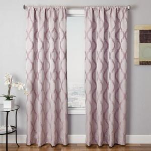 Softline Home Fashions Savannah Drapery Panels in Lilac color.