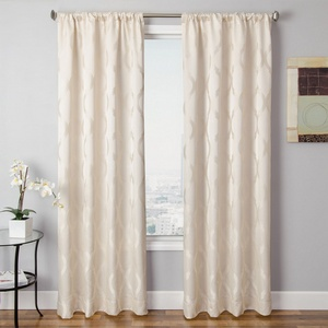 Softline Home Fashions Savannah Drapery Panels in Pearl color.