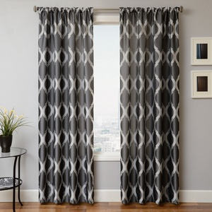 Softline Home Fashions Savannah Drapery Panels in Pewter color.