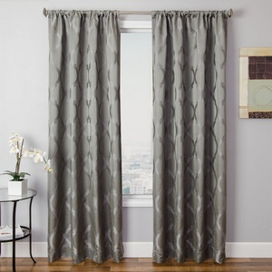 Softline Home Fashions Savannah Drapery Panels in Steel color.