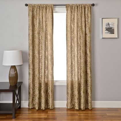 Softline Sicily Road Floral Drapery Panels are available in 30 color choices.