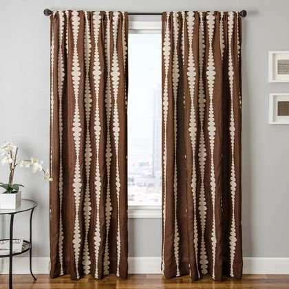 Softline Silene Stripe Sheer Drapery Panels is available in 4 color combinations.