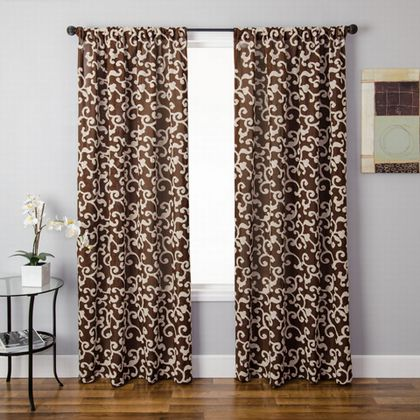 Softline Silene Sheer Drapery Panels is available in 4 color combinations.