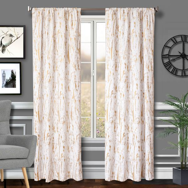 Softline Home Fashions Drapery Sparta Panel - Gold