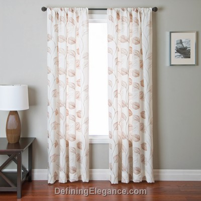 Softline Springdale Sheer Drapery Panels is available in 7 color combinations.